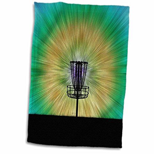 (3D Rose Colorful disc Golf tie dye Basket Design TWL_173456_1 Towel, 15