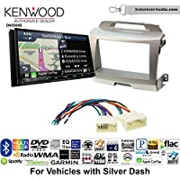 Volunteer Audio Kenwood Excelon DNX994S Double Din Radio Install Kit with GPS Navigation Apple CarPlay Android Auto Fits 2011-2014 Kia Sportage (Silver)