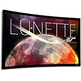 Elite Screens Lunette Series, 230 Diag. 16:9, Sound Transparent Curved Home Theater Fixed Frame Projector Screen, CURVE230H-A1080P3
