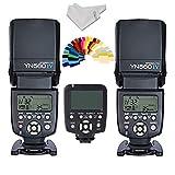 YONGNUO YN-560IV 2PCS Wireless Flash Speedlite kit + YN560-TX LCD Flash Trigger Remote Controller For Canon DLSR Cameras
