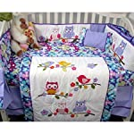 SoHo-Baby-Crib-Nursery-Bedding-10Pc-Set-Lavender-Owls