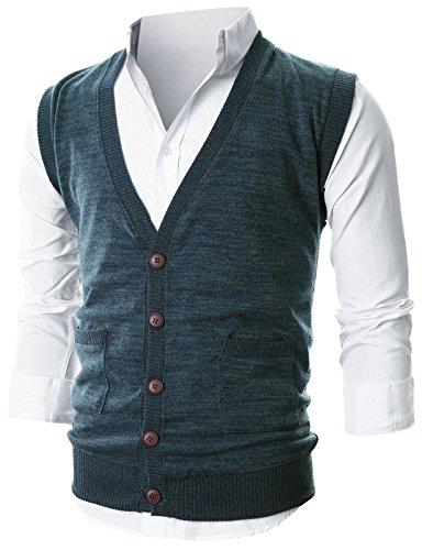 V-Neck Cotton Sweater Vest - 9