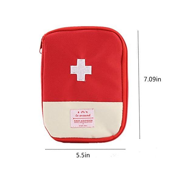 Mini bolsa médica Kit de primeros auxilios Bolsa de embalaje de drogas Viaje al aire libre Portable Red 2