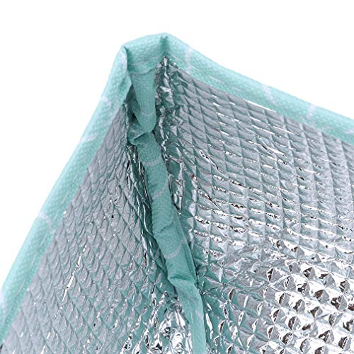 EH-LIFE Food Cover Keep Warm Foldable Aluminum Foil Vegetable Cover Dishes Kitchen Dust-proof Insulation Cover Small Blue Rectangle 1# by EH-LIFE (Image #4)