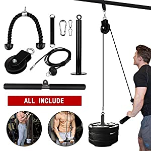 Elevtab-Fitness-LAT-and-Lift-Pulley-System-Cable-Machine-with-Upgraded-Loading-Pin-for-Triceps-Pull-Down-Biceps-Curl-Back-Forearm-Shoulder-Home-Gym-Equipment-Profession