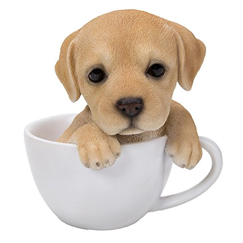Adorable Teacup Pet Pals Puppy Collectible Figurine 5.75 Inches (Puppy Cups)