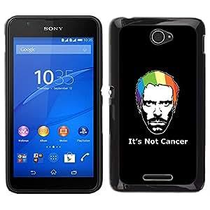Caucho caso de Shell duro de la cubierta de accesorios de protección BY RAYDREAMMM - Sony Xperia E4 - Su no cáncer de Casa