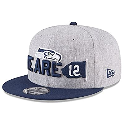 New Era Authentic Seattle Seahawks Heather Gray/Navy 2018 NFL Draft Official On-Stage 9FIFTY Snapback Adjustable Hat