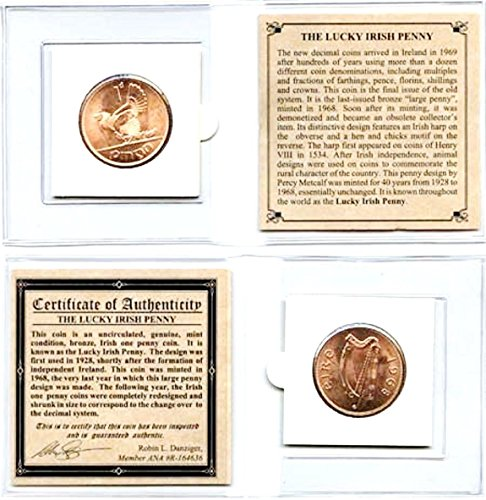 1968 IE Ireland 1968 Lucky Penny,Uncirculated,With Certificate,Story and Mini Album. and Mini Album. 25mm Very Good