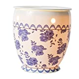 zebra electric candle warmer - Scentsationals Candle Warmer, Wax Warmer, Vintage Blue Rose. 25w Bulb Air Freshener - Full Size Electric Warmer 120V. Vintage Home Décor
