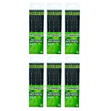 Dixon Ticonderoga Wood-Cased #2 Pencils, 6 Boxes of 24, Black (13926)