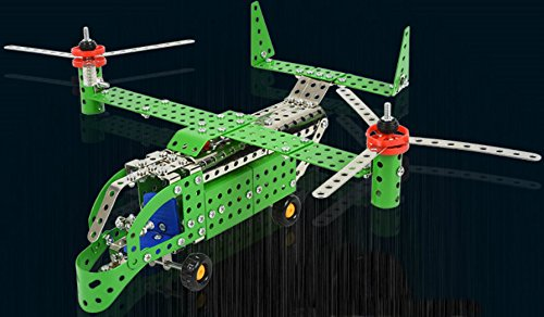 ApexJoy Assembly Metal Osprey V-22 Military Marine Battle Helicopter Model Kits Toy DIY Building Puzzles Set for - Diy Power Rangers