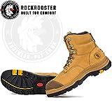 ROCKROOSTER Work Boots for Men, Steel Toe, 8 inch