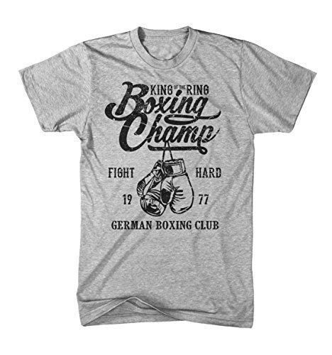 Monkey Print Camiseta Hombre Rey De Anillo Alemán Boxing Club Boxeo Fight Sport: Amazon.es: Ropa y accesorios