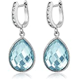 925 Sterling Silver Blue Topaz Pear Shape...