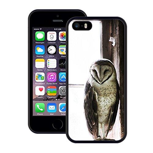 Eule | Handgefertigt | iPhone 5 5s SE | Schwarze Hülle