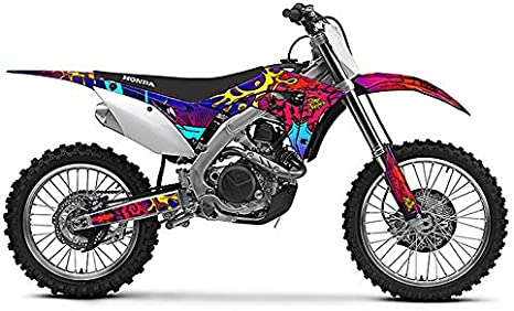 2000-2003 XR 50 Zany Red CUSTOM Senge Graphics Kit Compatible with Honda
