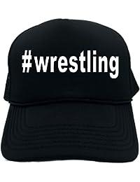 94afafa2 Funny Trucker Hat (#wrestling (Hashtag Cap) Sports) Unisex Adult Foam Retro