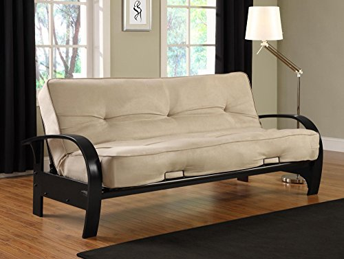 Microfiber Futon Sleeper Sofa (DHP Premium Madrid Futon Frame with Microfiber Mattress, Full, Tan)
