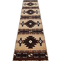 Runner Southwestern Apache Woven 3x10 Area Rug Berber/Tan Actual Size 23x1010