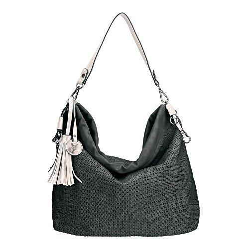 Suri Frey Donna Borsa di spalla 10731 11043 Izzy Hobo Bag nera