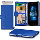 BLU Studio C 5 + 5 / Studio C 5 + 5 LTE Adjustable Spring Wallet ID Card Holder Case Cover (Blue) Plus Free Gift, Screen Protector and a Stylus Pen, Order Now Best Valued Phone Case on Amazon! By FinestPhoneCases