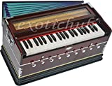 Harmonium Pro Grade By Kaayna Musicals, 9 Stops (5 Main - 4 Drone), 3 ½ Octaves, Double Reed, Coupler, Dark Cherry Color, Gig Bag, 440 Hz Tuned, Suitable for Yoga, Bhajan, Kirtan, Shruti, Mantra etc