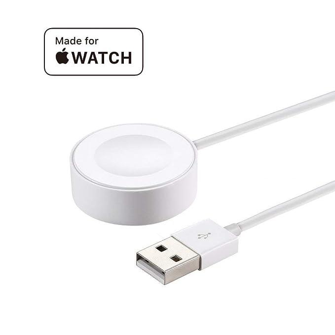 OPSO Cargador para Apple Watch [Apple MFi Certified],(1 metro) Magnetic Cable de carga para Apple Watch/iWatch 1/2/3/4 38mm 40mm 42mm 44mm-3.3Feet