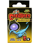Zoo Med Creatures LED Black Light - 5 W, 690541, 5 Wide/ 2.31 in