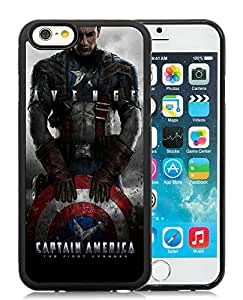 Beautiful Designed Cover Case With Captain America 5 Black Phone Case for iPhone 6 4.7 inch