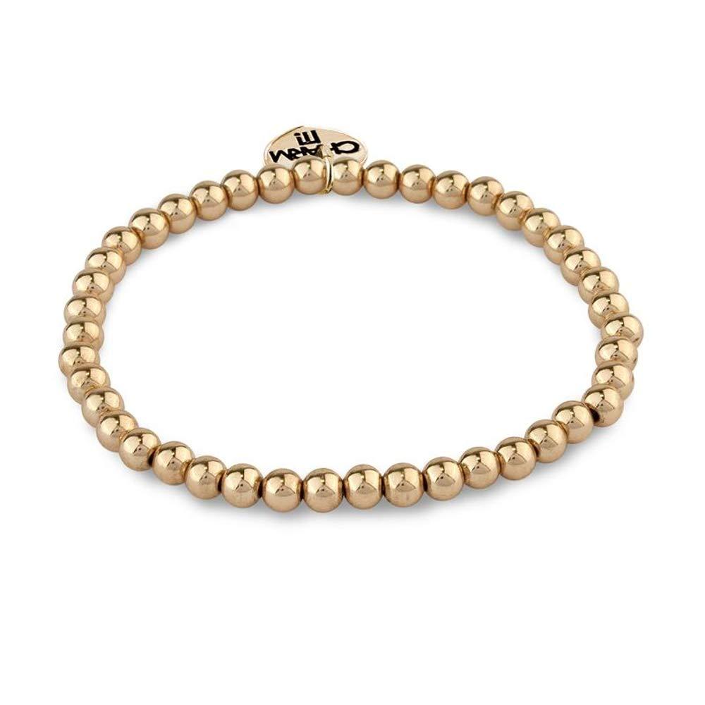 Charm It 4mm Gold Bead Bracelet