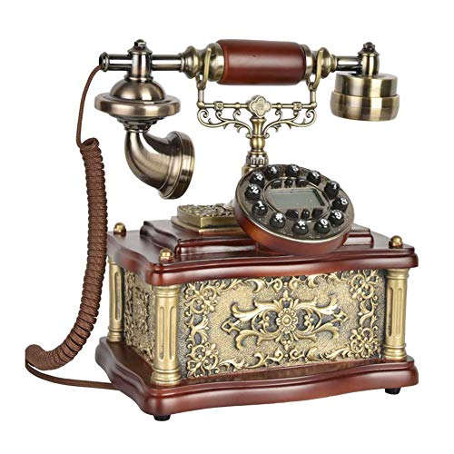 Caller ID Vintage Telephone Antique Telephone Call Landline Villa Living Room Decorative Retro Phone Fixed Landline FSK/DTMF Compatible from Cacoffay