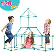 Obuby Kids Crazy Construction Fort Building Kit 120 Pieces Ultimate Forts Builder Gift Build Making Kits Toys