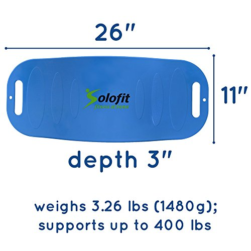 Solofit Balance Board Fitness Board for Abs, Legs, Core, Back and Shoulders Workout Yoga Twist Board with Resistance Tubes for Toning, Strengthening, Weight Loss + Instructions–Fit Board for Exercise