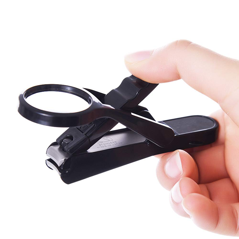Leinsy-home Nail Scissors Nail Clipper Old Man and Baby Safe Nail Care Deluxe Nail Clipper with Magnifier Manicure Tool by Leinsy-home