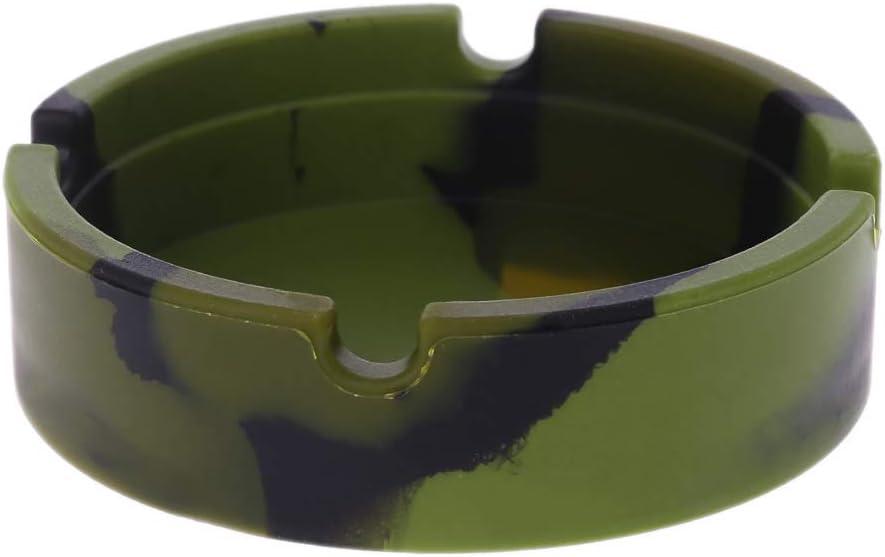 suoryisrty Ashtray for Cigarettes Crafts Silicona Suave Cenicero Redondo Colorido Ligero Resistente al Calor Respetuoso del Medio Ambiente