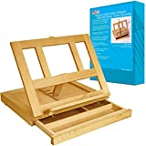 Artist Wood Tabletop Portable Desk Easel with Storage Drawer - Painting