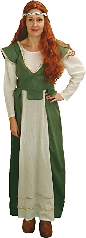 Limit Disfraz de Criada Anna Vestido Medieval Doncella Verde Mujer ...
