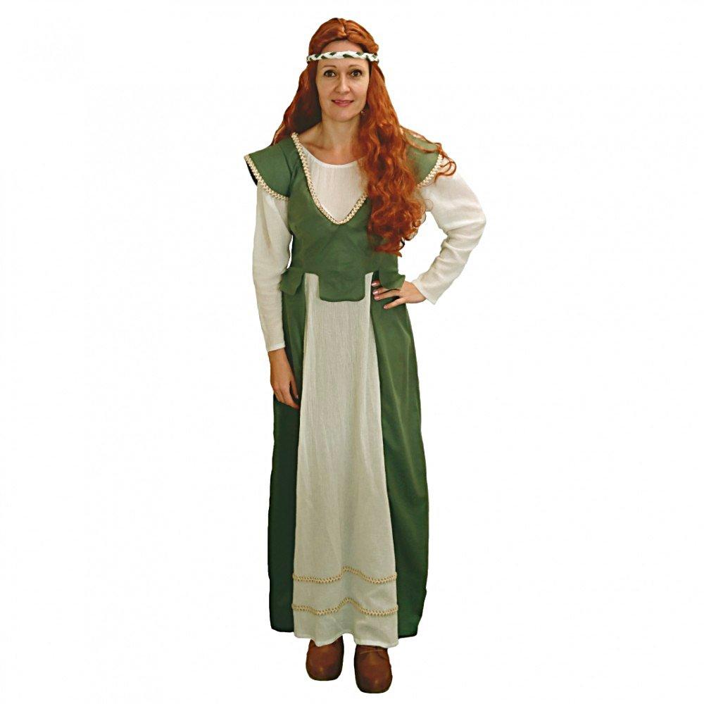 Limit Costume Adulto Anna Abito Medievale Cameriera verde Donna contadina Maid of Honor Carnevale (S)