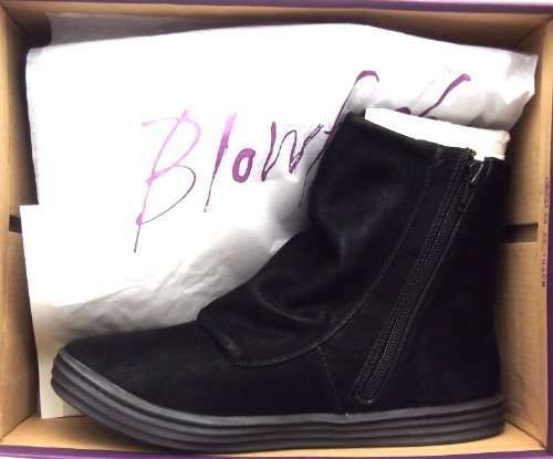 Blowfish Faux Boots Women's Black Ankle Leather Zip Rabbit Up pwwxq65