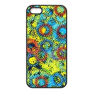 Abstract flowers painting Phone Case for Iphone 5/5S Case Cover(TPU)