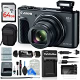 Canon PowerShot SX730 ALL YOU NEED Digital Camera BUNDLE w/ 64GB Memory + Card Reader + Camera Case + Extra Travel Charger + Extra Battery + Screen Protectors + DigitalAndMore Cleaning Solution (64GB)