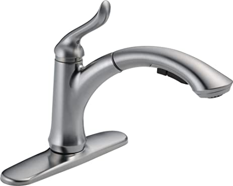 Delightful Delta Faucet 4353 AR DST Linden Single Handle Water Efficient Pull Out