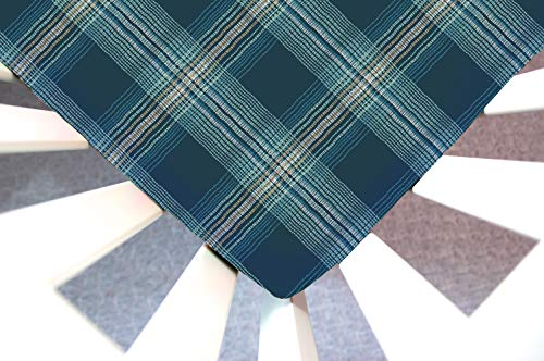 Moses Basket Stripes Cotton (Little Moose by Liza Handmade Sheet Made to Fit Moses Basket Wafting Plaid (Blue, Mint))