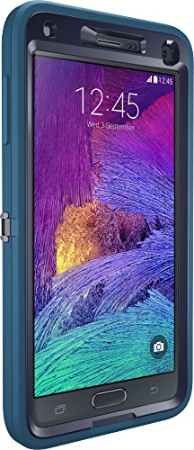 OtterBox Samsung Galaxy Note 4 Case Defender Series - Retail Packaging - Ink Blue (Admiral Blue/Deep Water) (Samsung Note 4 Cases Otterbox)