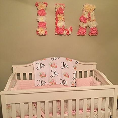 Amazon.com: Personalizable de bebé nombre – Manta Floral: Baby