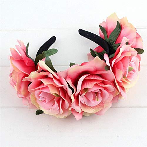 Womens Bridal Flower Headband Crown Floral Wedding Hairband Garland Party (Pattern - #4) ()