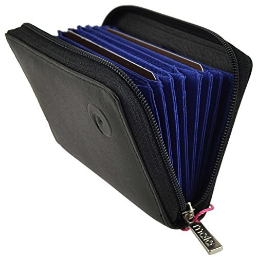 bb67340447e Mala Leather ORIGIN Collection Leather Concertina Credit Card Holder With  RFID Protection 552 5 Black