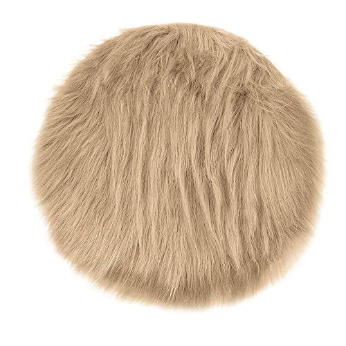 Geetobby Luxury Soft Faux Sheepskin Fur Area Rugs for Bedside Floor Mat Plush Sofa Cover Seat Pad for Bedroom