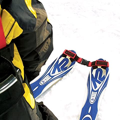 Lucky Bums Tip Clip Ski Training Aid (Red/Black) (Edgie Wedgie And Harness)